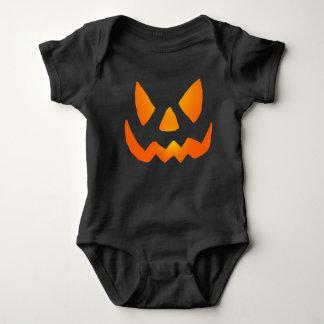 Body Para Bebê Jackolantern de incandescência mau enfrenta