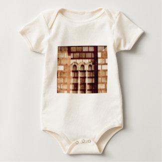 Body Para Bebê janela marrom do bloco