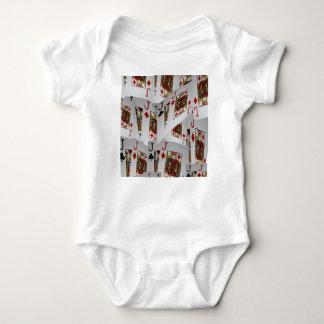 Body Para Bebê Jaques em um teste padrão mergulhado, _