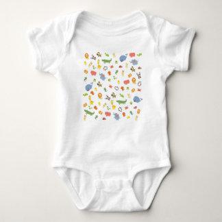 Body Para Bebê Jardim zoológico