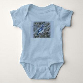 Body Para Bebê Jay azul no feriado do Natal da neve
