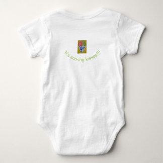 Body Para Bebê Jérsei do bebê do cone de Sno