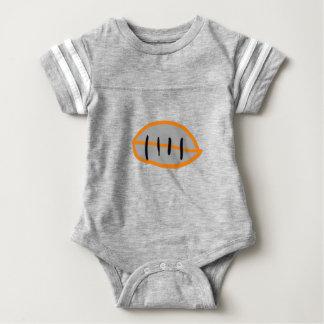 Body Para Bebê Jérsei do futebol para o bebê