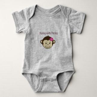 Body Para Bebê Jérsei pequeno do bebê do macaco da mamã
