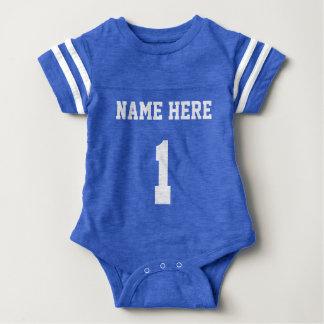 Body Para Bebê Jérsei personalizado do futebol um terno do corpo
