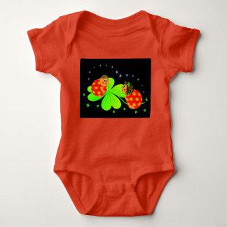 Body Para Bebê Joaninha irlandês pequeno