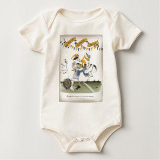 Body Para Bebê jogador de futebol da esquerda de Brasil do