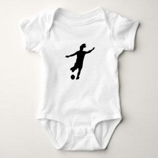 Body Para Bebê Jogador de futebol da mulher