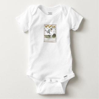 Body Para Bebê jogador de futebol irlandês do direita