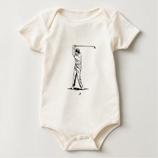 Body Para Bebê Jogador de golfe - desenho retro