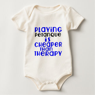Body Para Bebê Jogando Petanque mais barato do que a terapia