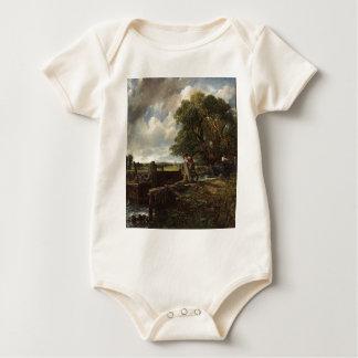 Body Para Bebê John Constable - o fechamento - paisagem do campo
