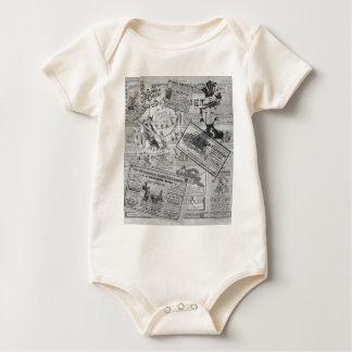 Body Para Bebê Jornal do vintage