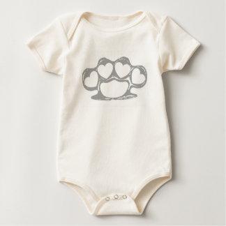 Body Para Bebê Juntas de bronze do coração