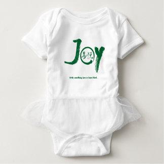 """Body Para Bebê Kanji verde da alegria dentro do tutu da """"alegria"""""""