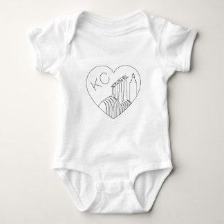 Body Para Bebê Kansas City - linha minimalista coração da skyline