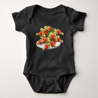 Body Para Bebê Kebabs super do vegetariano da comida do pulso