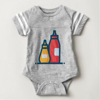Body Para Bebê Ketchup e mostarda
