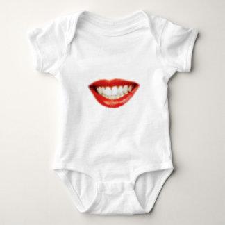 Body Para Bebê Lábios vermelhos