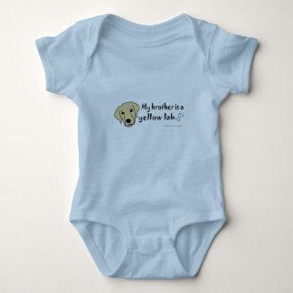 Body Para Bebê laboratório amarelo