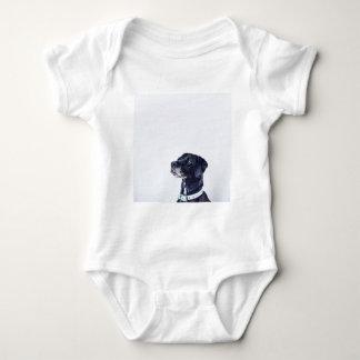 Body Para Bebê Labrador retriever preto customizável