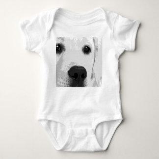 Body Para Bebê Labrador retriever preto e branco