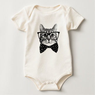 Body Para Bebê laço do gato - gato dos vidros - gato de vidro