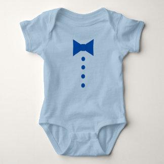 Body Para Bebê Laço e botões azuis