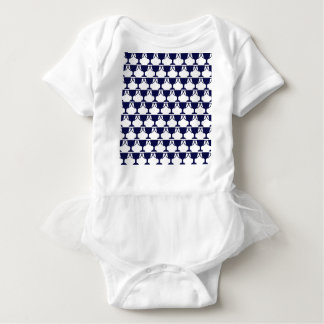 Body Para Bebê Laço preto do Victorian