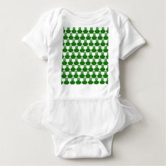 Body Para Bebê Laço verde do Victorian