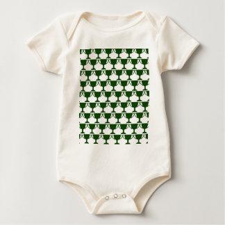Body Para Bebê Laço verde escuro do Victorian