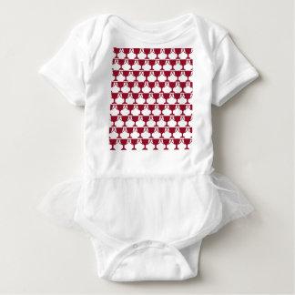 Body Para Bebê Laço vermelho do Victorian