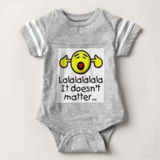 Body Para Bebê lalal não importam as citações