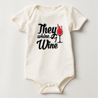 Body Para Bebê Lamentam-se vinho de I