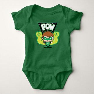 Body Para Bebê Lanterna verde de Chibi que forma os punhos