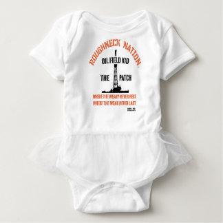 Body Para Bebê Laranja do MIÚDO do CAMPO PETROLÍFERO