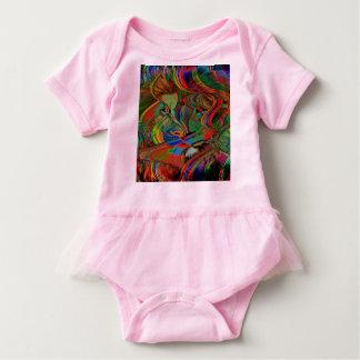 Body Para Bebê Leão abstrato