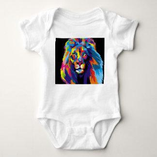 Body Para Bebê Leão colorido