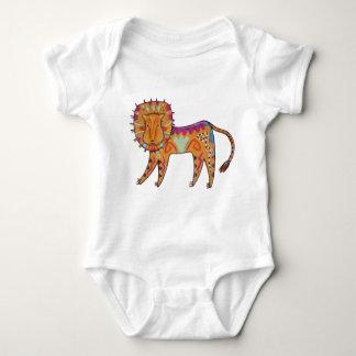 Body Para Bebê Leão curioso