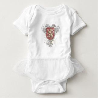 Body Para Bebê leão da coroa e a marca