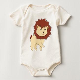 Body Para Bebê Leão feliz do bebê dos desenhos animados
