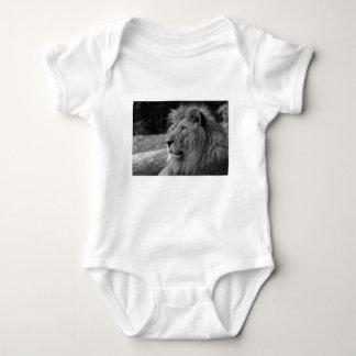 Body Para Bebê Leão preto & branco - animal selvagem