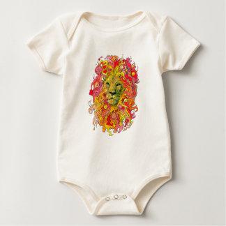 Body Para Bebê Leão psicadélico