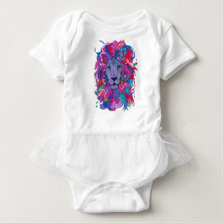 Body Para Bebê Leão psicadélico roxo