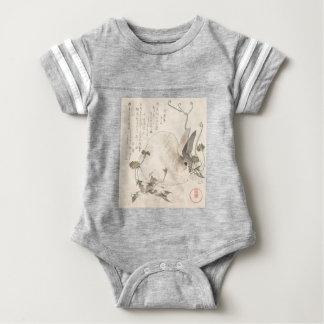 Body Para Bebê Lebre e dente-de-leão, Kubo Shunman, arte japonesa