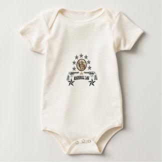 Body Para Bebê lei das armas e do marechal do cavalo