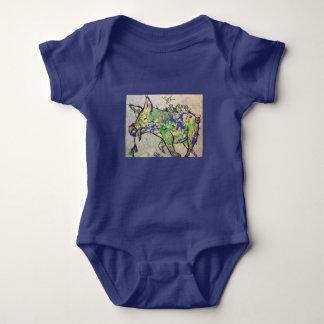 Body Para Bebê Leitão preguiçoso com pássaros de bebê
