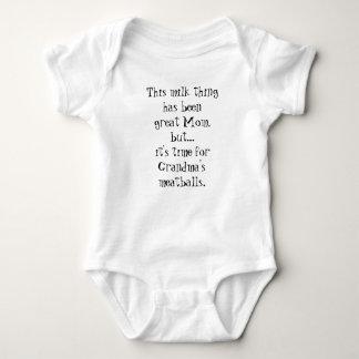 Body Para Bebê Leite ao Romper engraçado do bebê dos Meatballs da