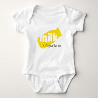 Body Para Bebê Leite - é bom para mim