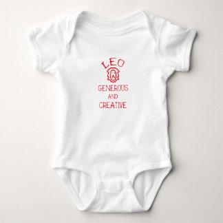 Body Para Bebê Leo (texto vermelho)
